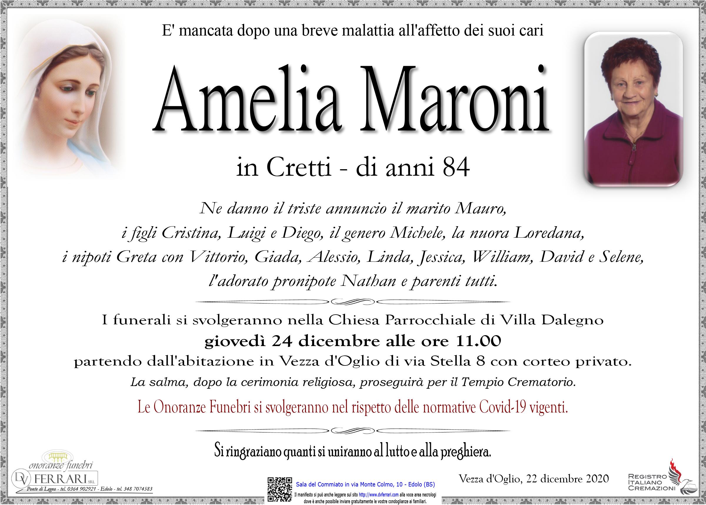 AMELIA MARONI IN CRETTI - VEZZA D'OGLIO