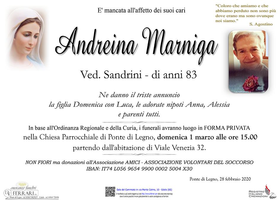 ANDREINA MARNIGA ved. SANDRINI - PONTE DI LEGNO