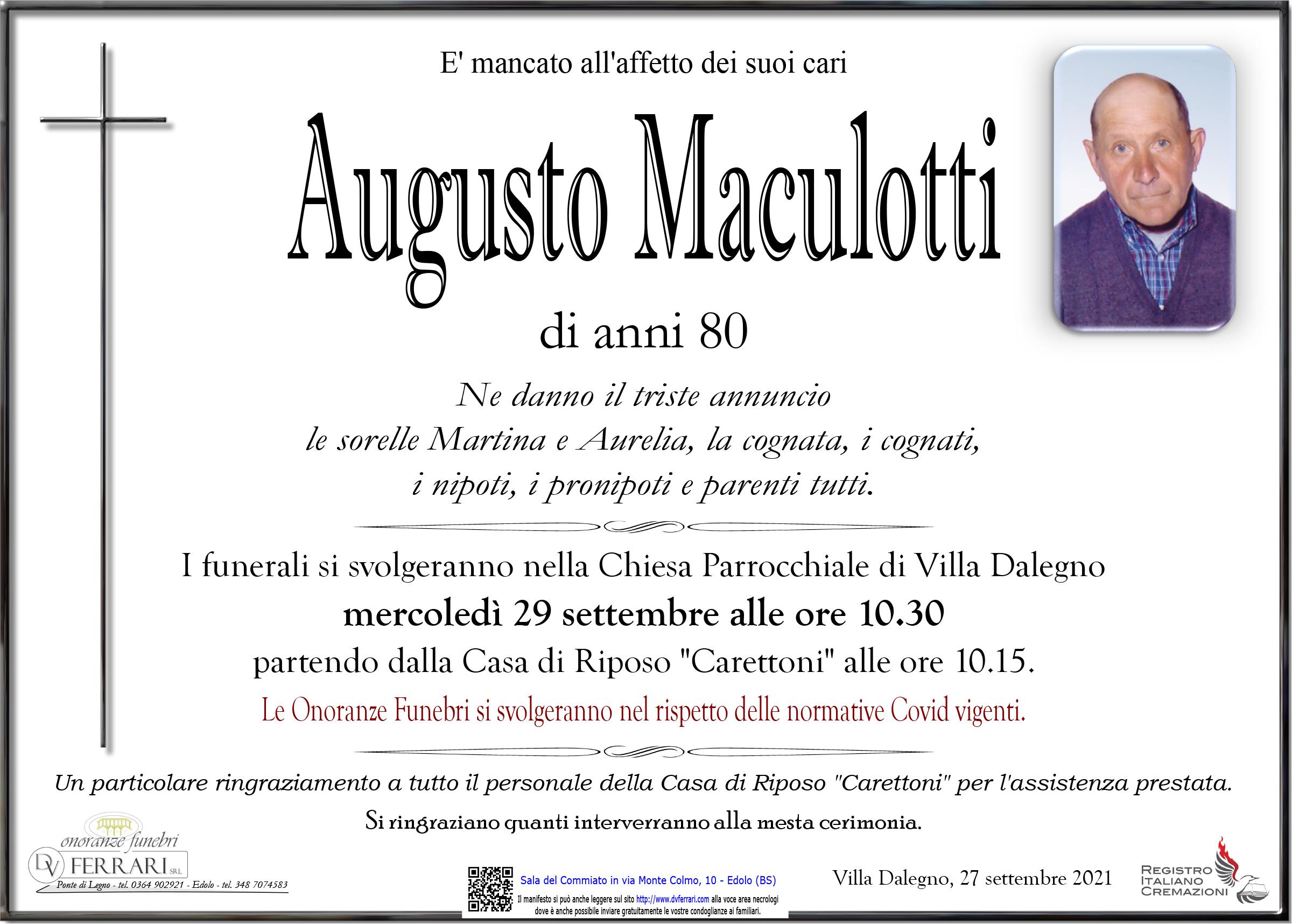 AUGUSTO MACULOTTI - VILLA DALEGNO