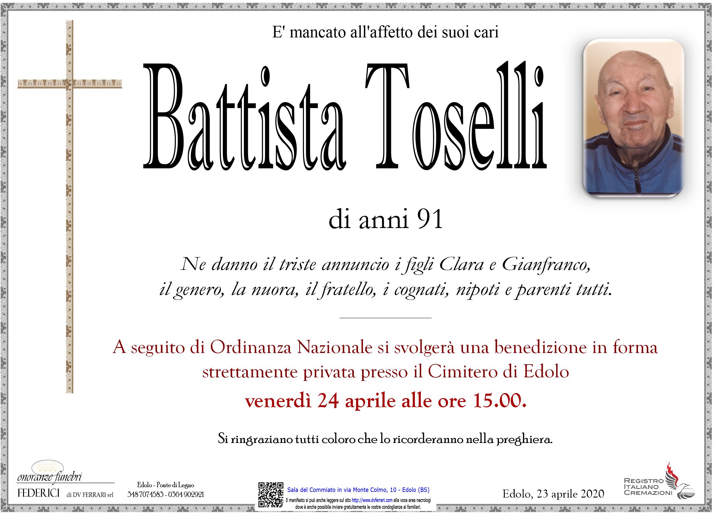 BATTISTA TOSELLI - EDOLO