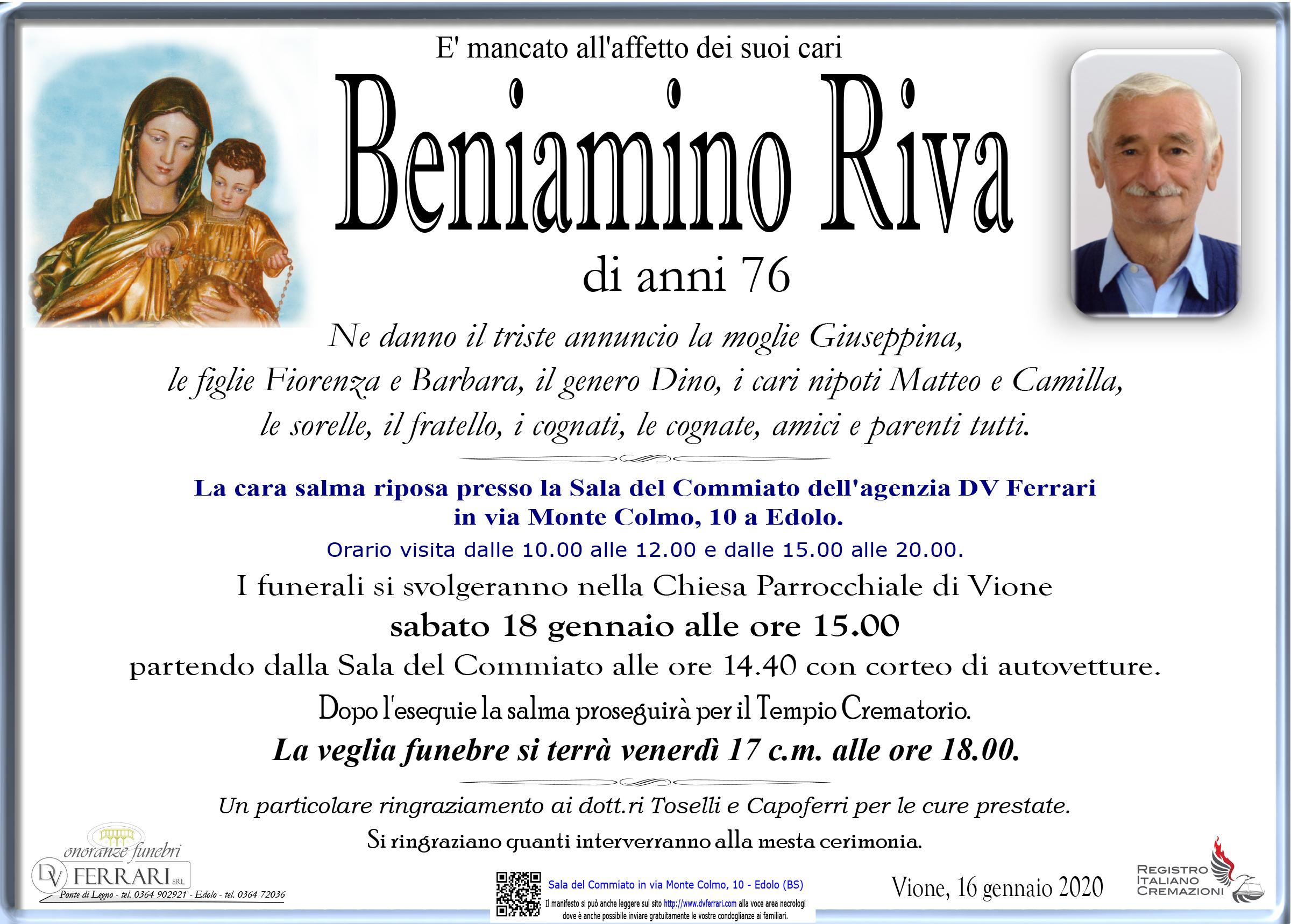 BENIAMINO RIVA - VIONE
