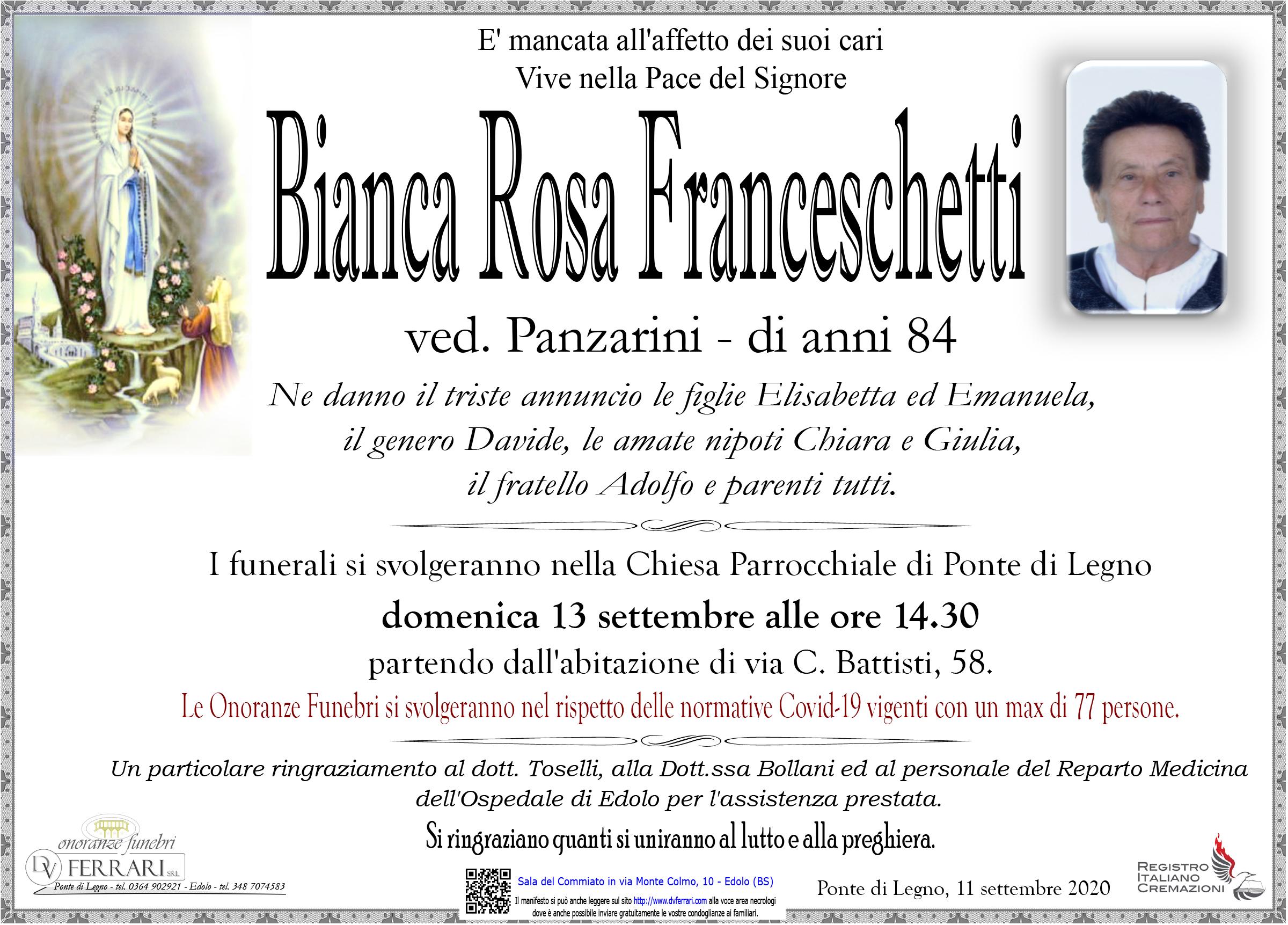 BIANCA ROSA FRANCESCHETTI VED. PANZARINI - PONTE DI LEGNO