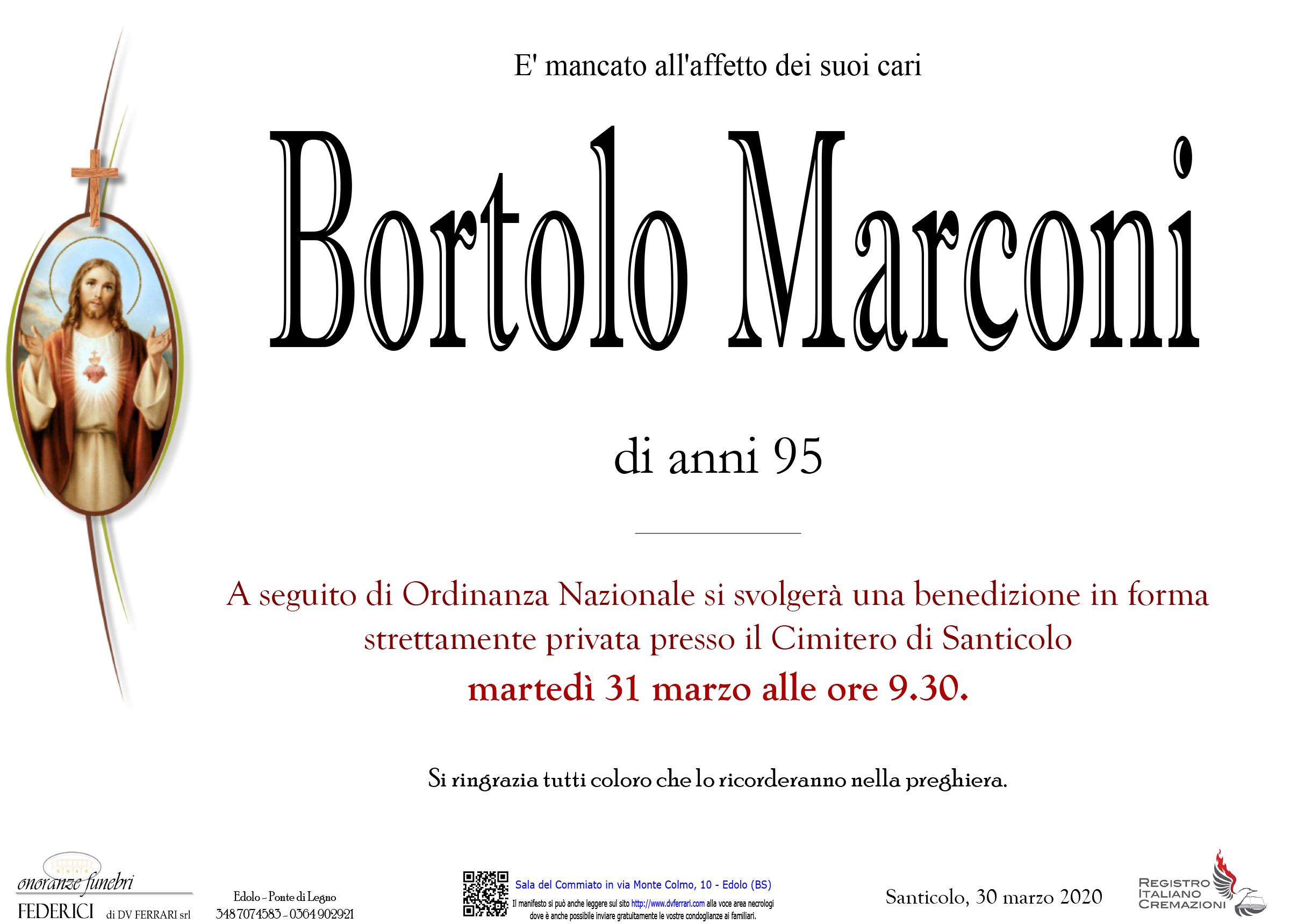 BORTOLO MARCONI - SANTICOLO
