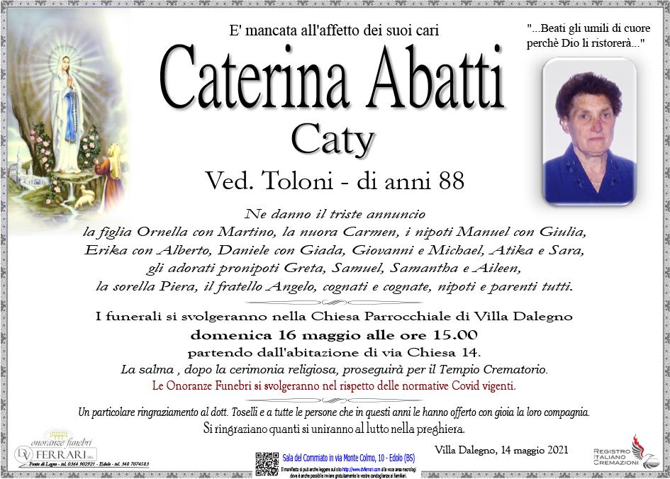 CATERINA ABATTI CATY VED. TOLONI - VILLA DALEGNO
