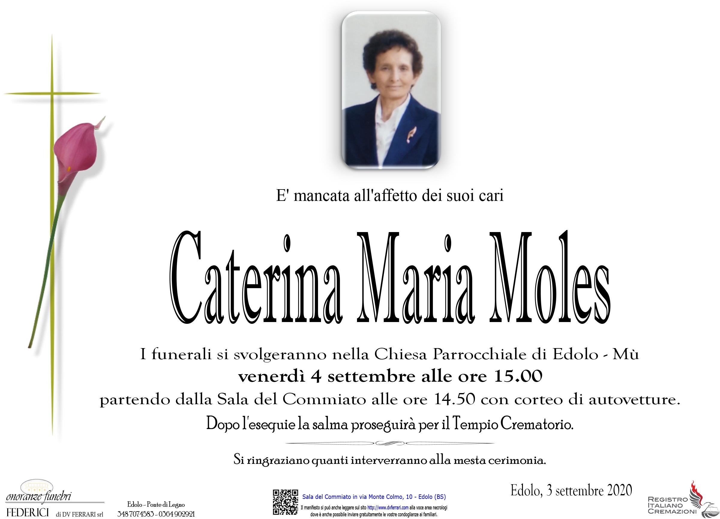 CATERINA MARIA MOLES VED. RICCA - EDOLO