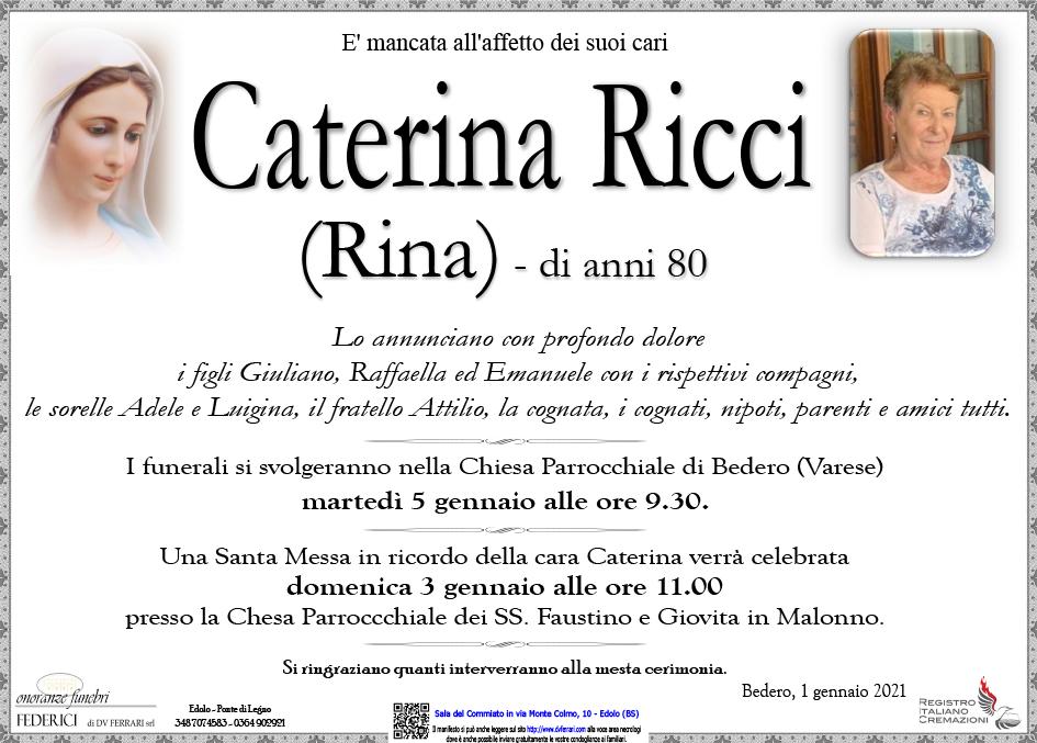 CATERINA (RINA) RICCI - BEDERO (VA)