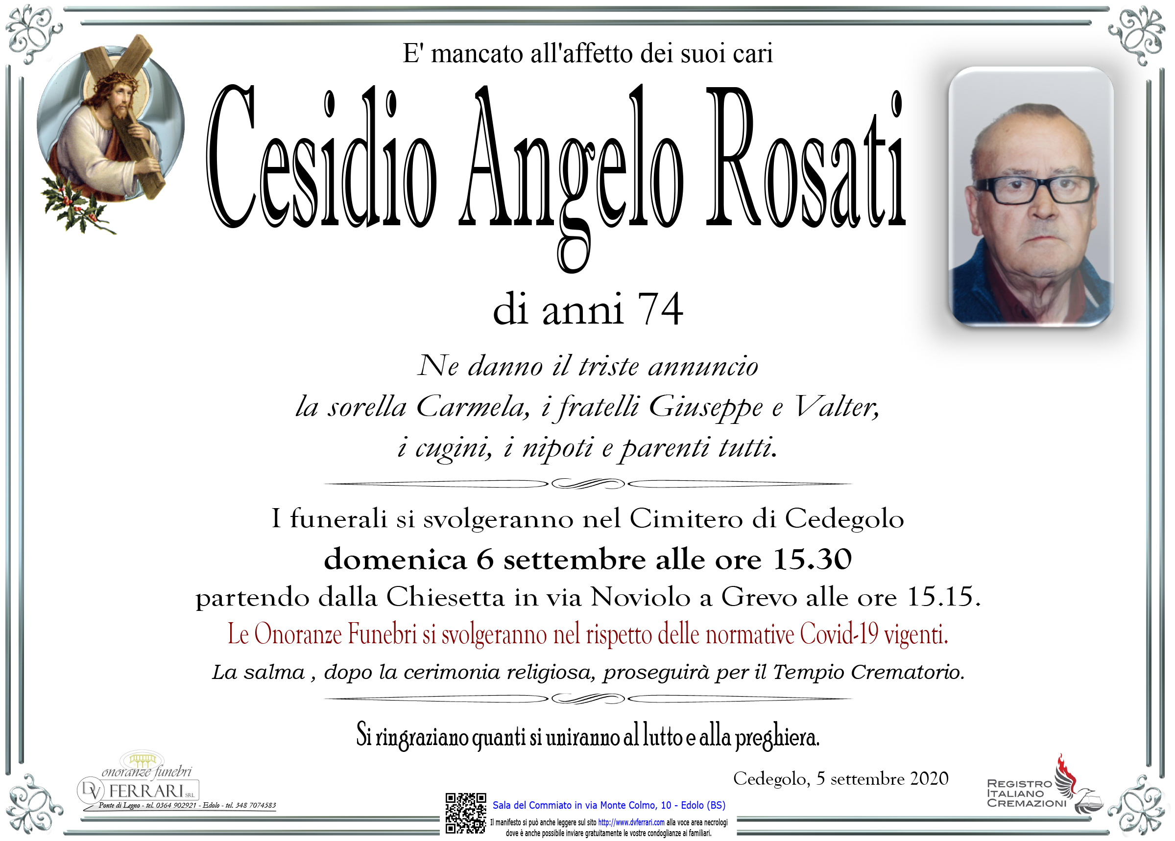 CESIDIO ANGELO ROSATI - CEDEGOLO