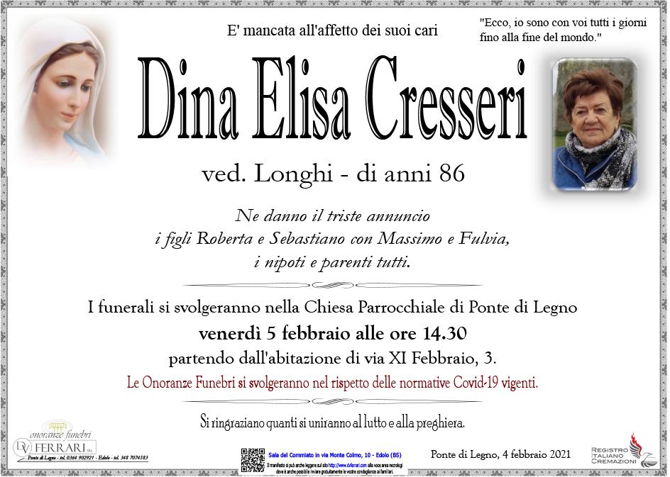DINA ELISA CRESSERI VED. LONGHI - PONTE DI LEGNO
