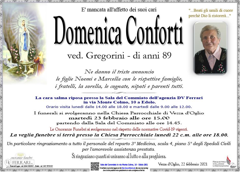 DOMENICA CONFORTI VED. GREGORINI - VEZZA D'OGLIO