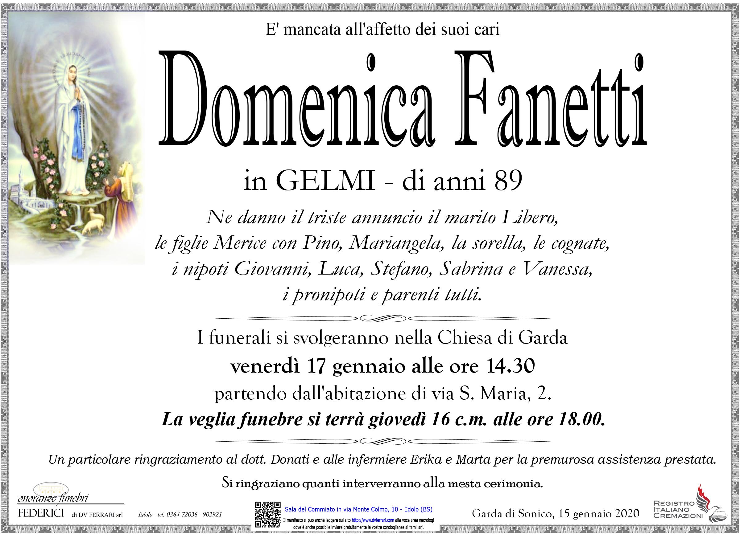 DOMENICA FANETTI in GELMI - GARDA DI SONICO