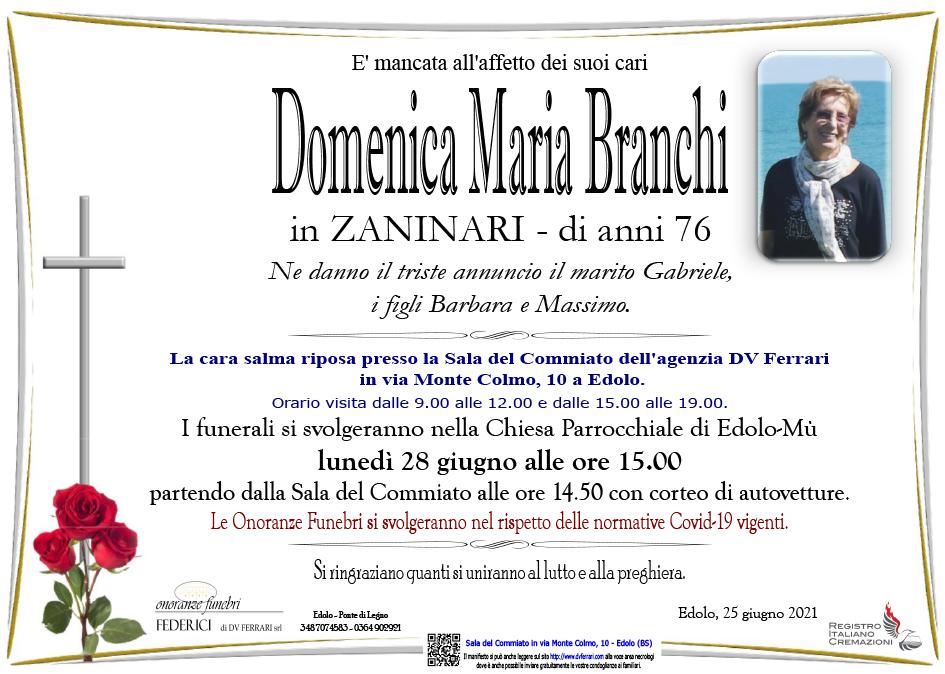 DOMENICA MARIA BRANCHI in ZANINARI - EDOLO