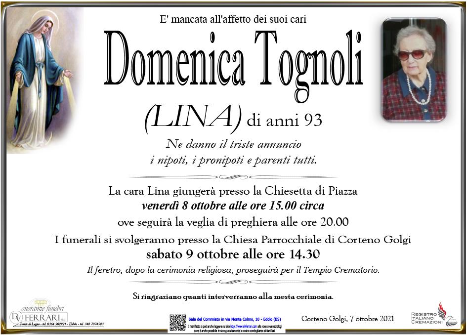 DOMENICA TOGNOLI (LINA) - CORTENO GOLGI