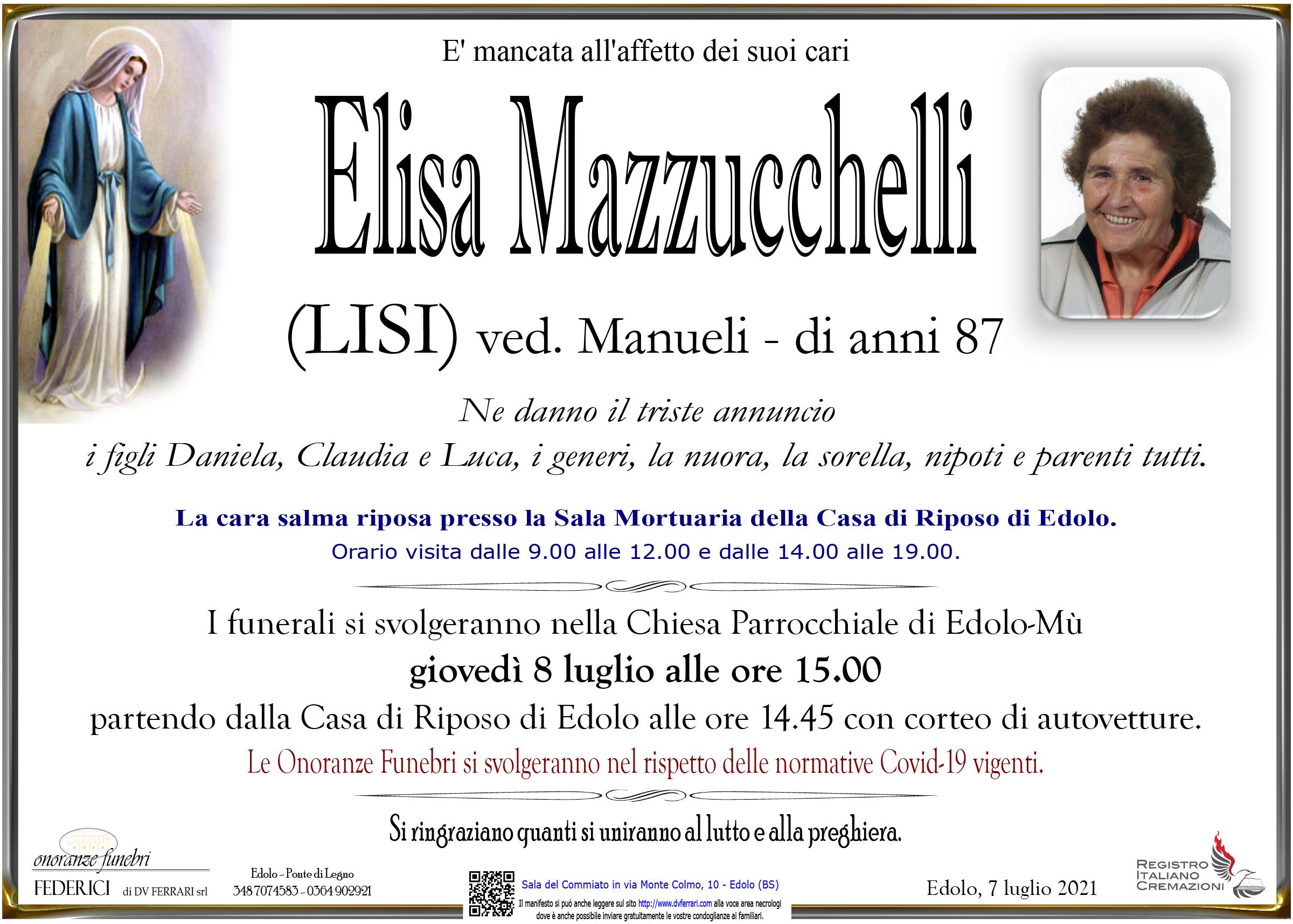 ELISA (LISI) MAZZUCCHELLI VED. MANUELI - EDOLO