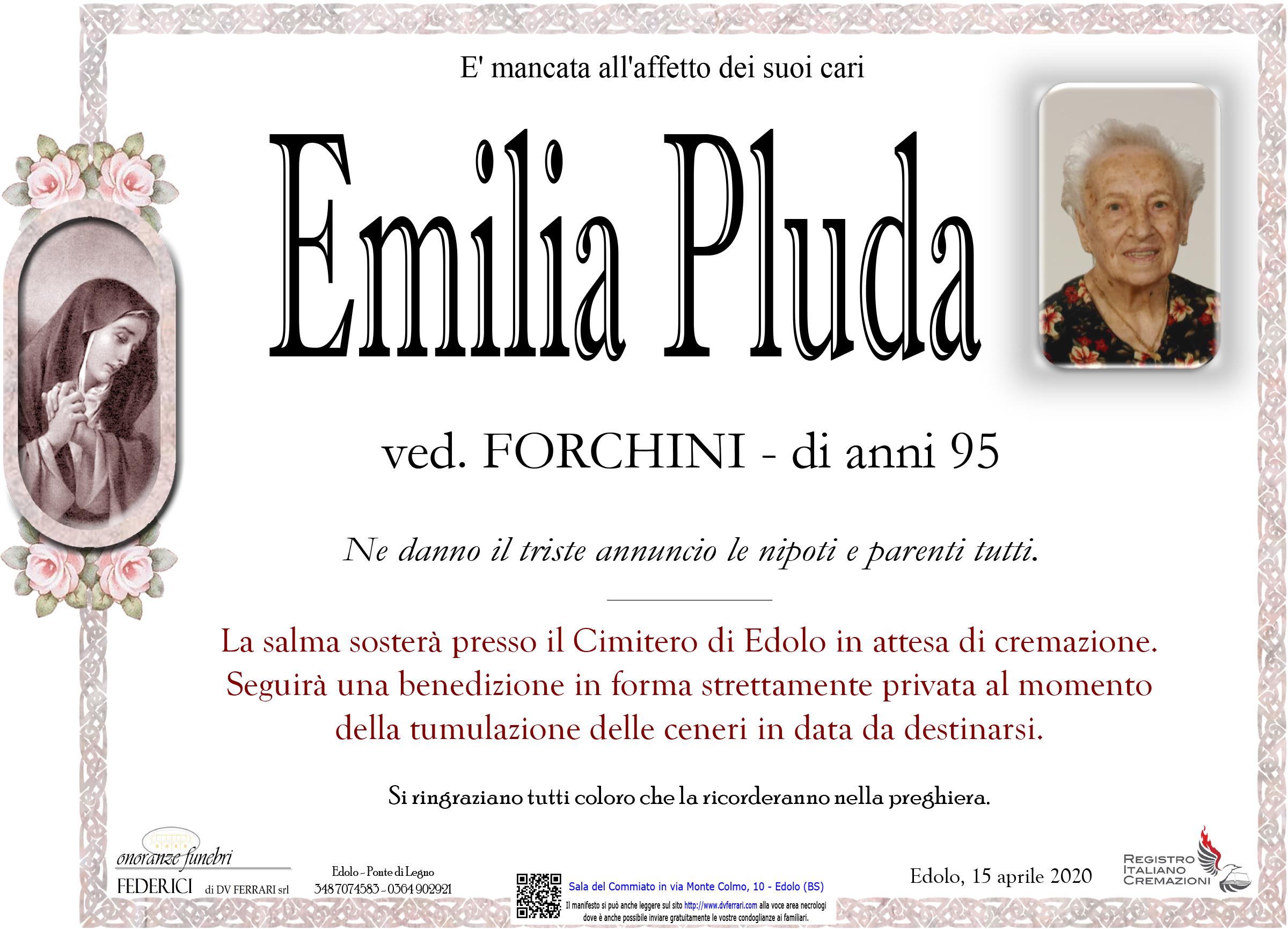 EMILIA PLUDA VED. FORCHINI - EDOLO