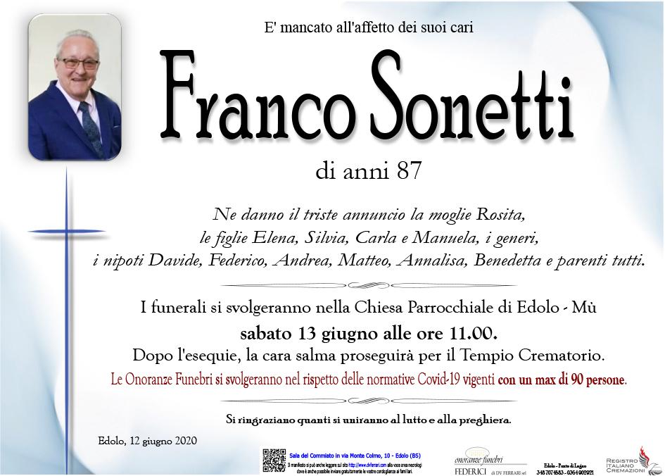 EMILIO FRANCO SONETTI - EDOLO