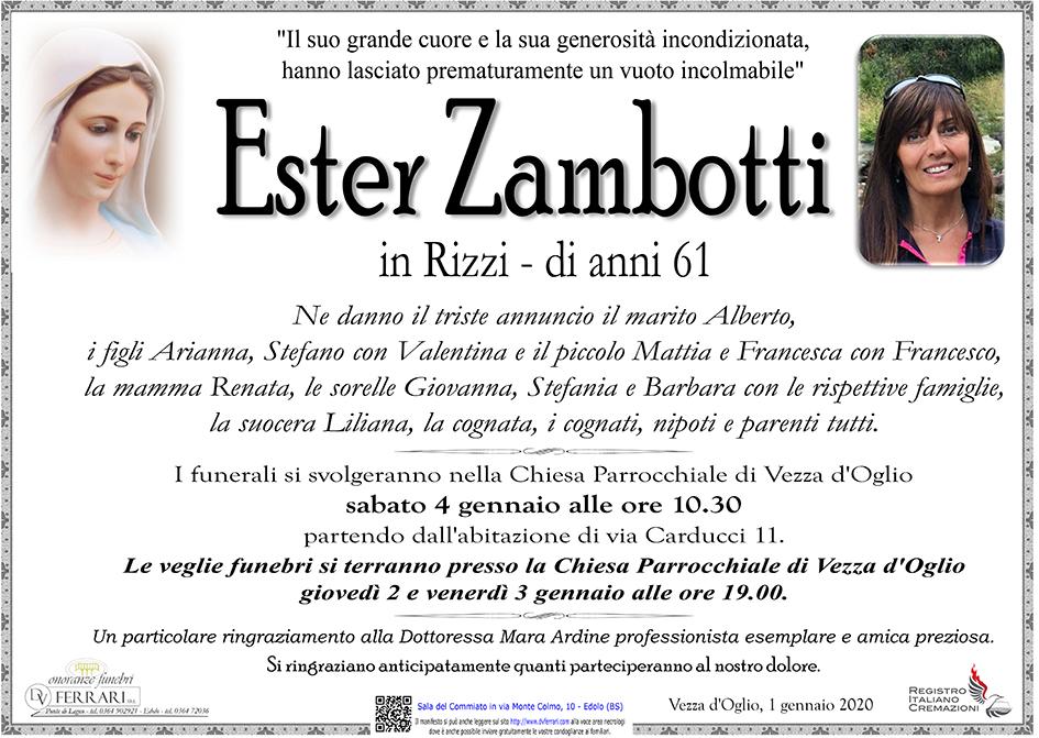 ESTER ZAMBOTTI in RIZZI - VEZZA D'OGLIO