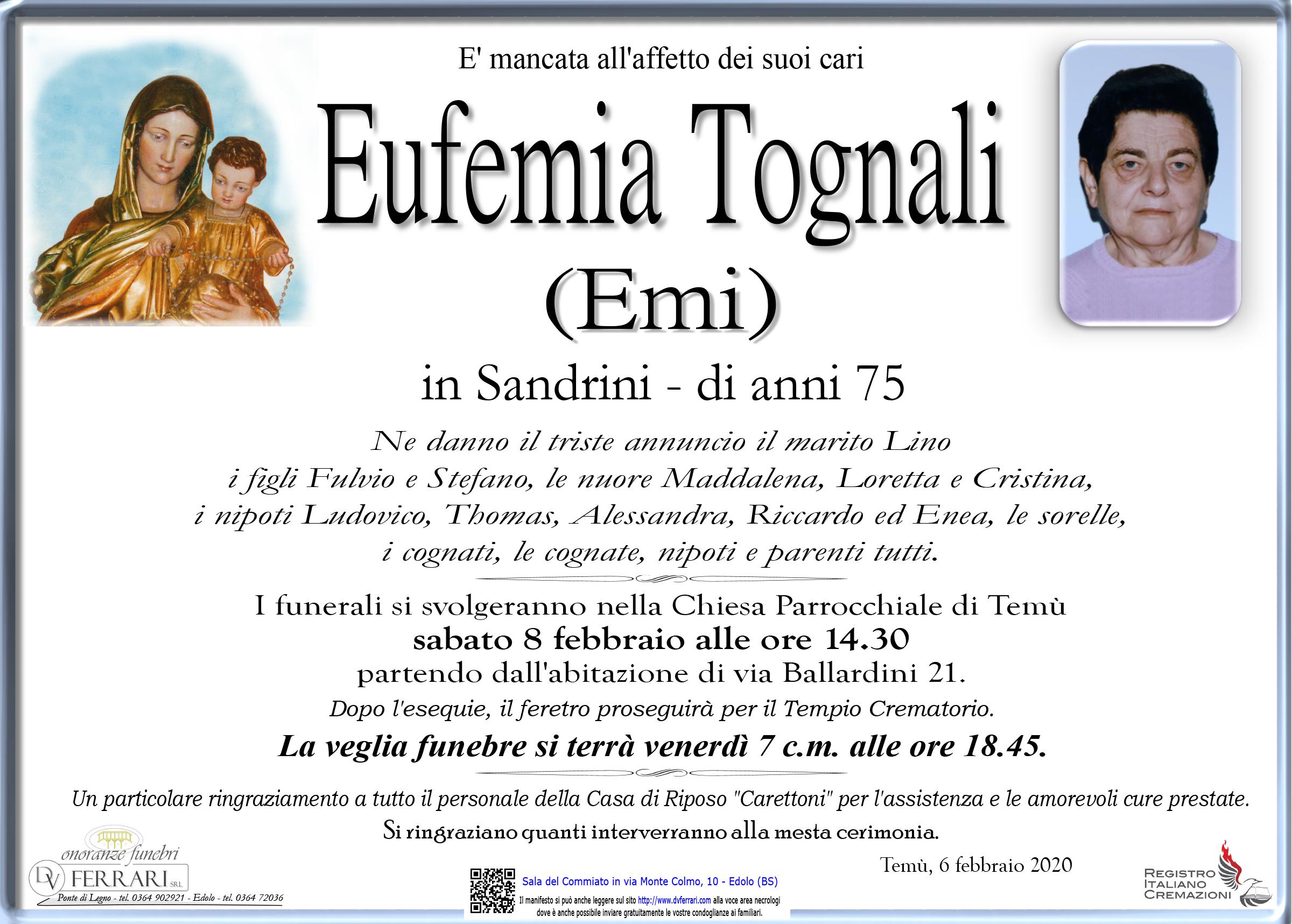EUFEMIA TOGNALI (EMI) IN SANDRINI - TEMU'
