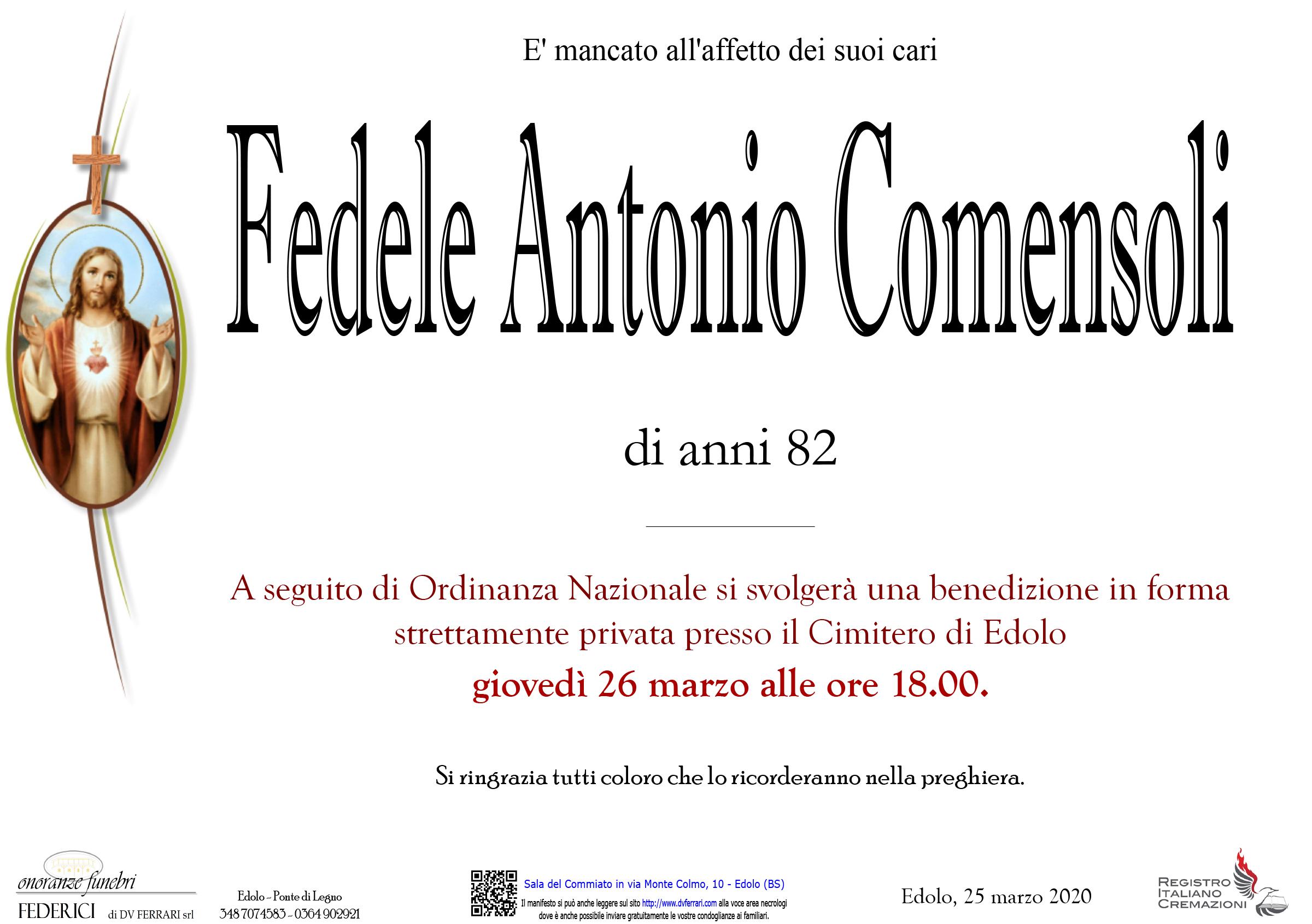 FEDELE ANTONIO COMENSOLI - EDOLO
