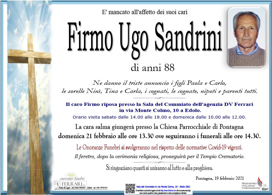 FIRMO UGO SANDRINI - PONTAGNA