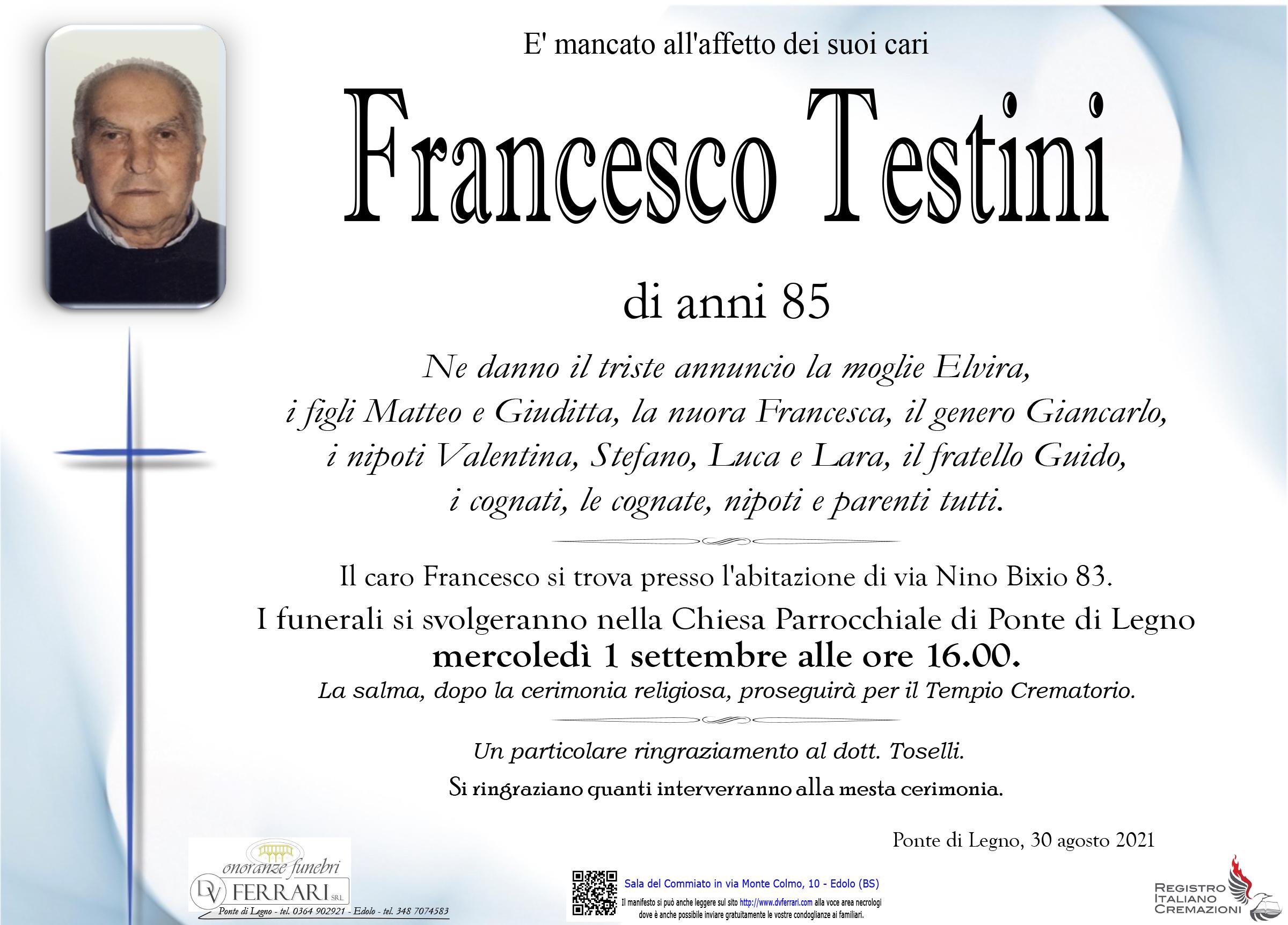 FRANCESCO TESTINI - PONTE DI LEGNO