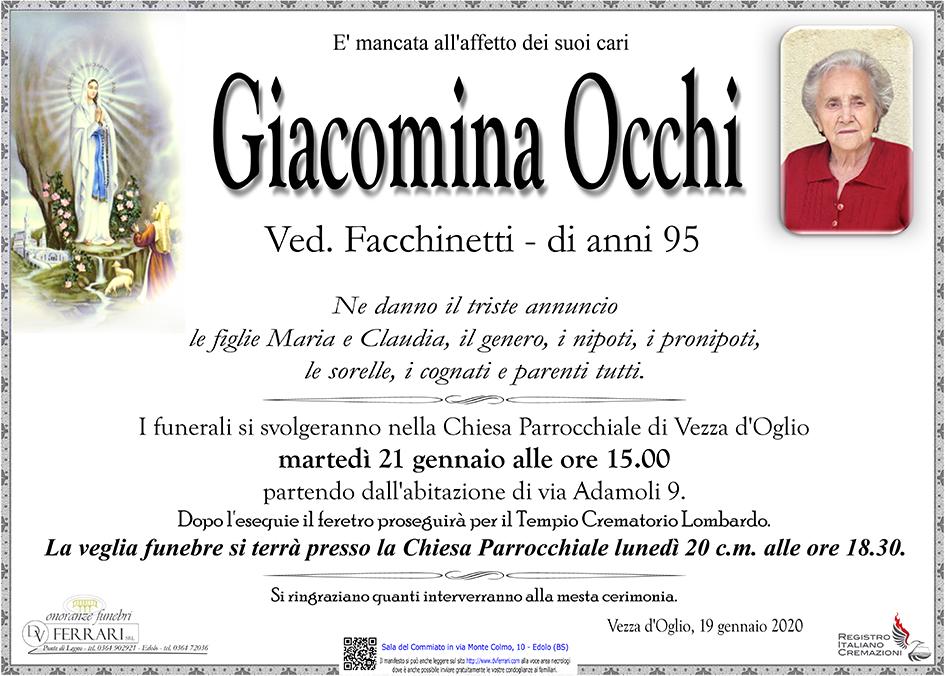 GIACOMINA OCCHI ved. FACCHINETTI - VEZZA D'OGLIO