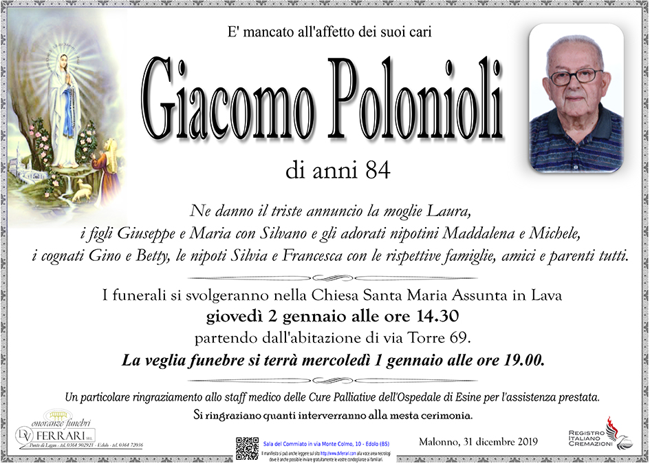 GIACOMO POLONIOLI - MALONNO