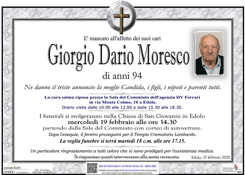 GIORGIO DARIO MORESCO - EDOLO