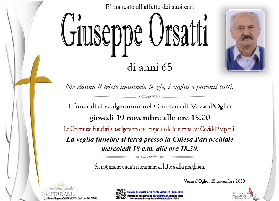 GIUSEPPE ORSATTI - VEZZA D'OGLIO