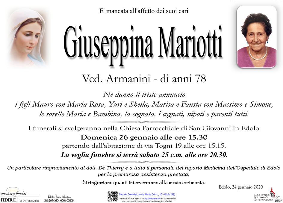 GIUSEPPINA MARIOTTI ved. ARMANINI - EDOLO