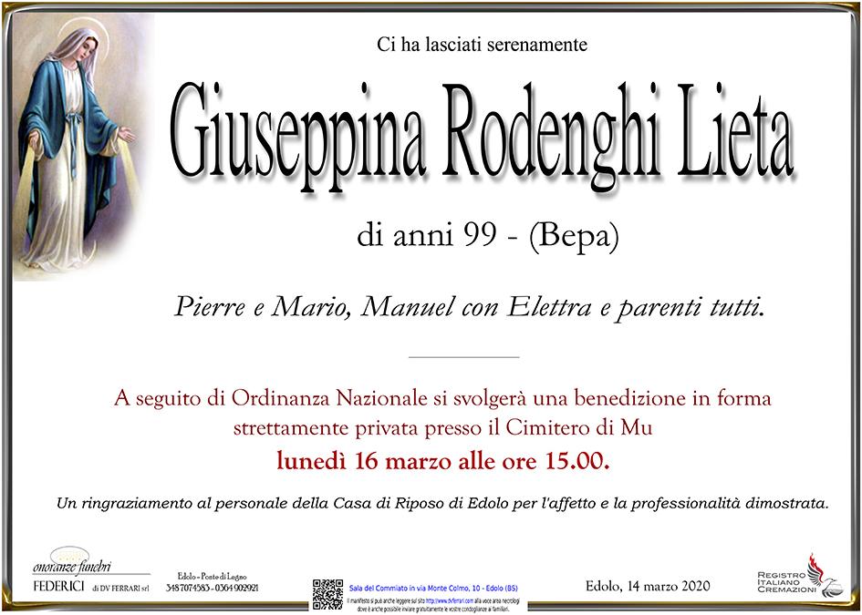 GIUSEPPINA RODENGHI LIETA - EDOLO