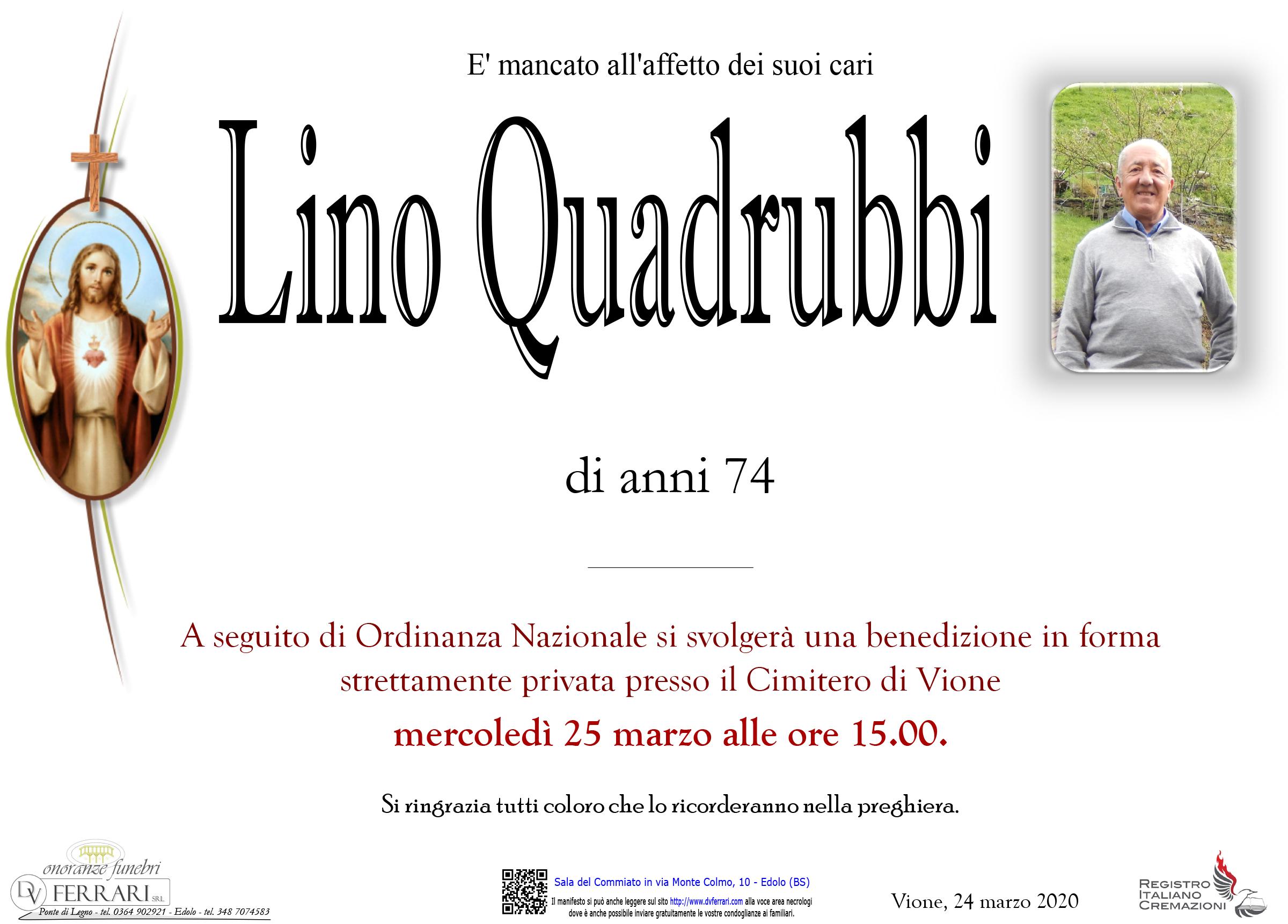 LINO QUADRUBBI - VIONE