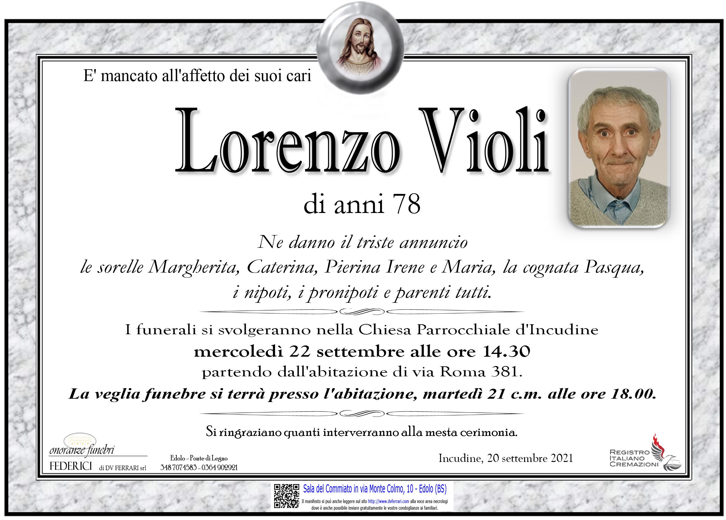 LORENZO VIOLI - INCUDINE