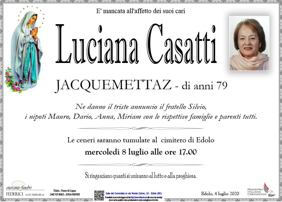 LUCIANA CASATTI JACQUEMETTAZ - EDOLO
