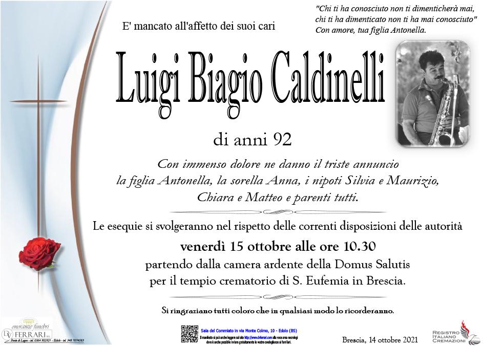 LUIGI BIAGIO CALDINELLI - BRESCIA-EDOLO