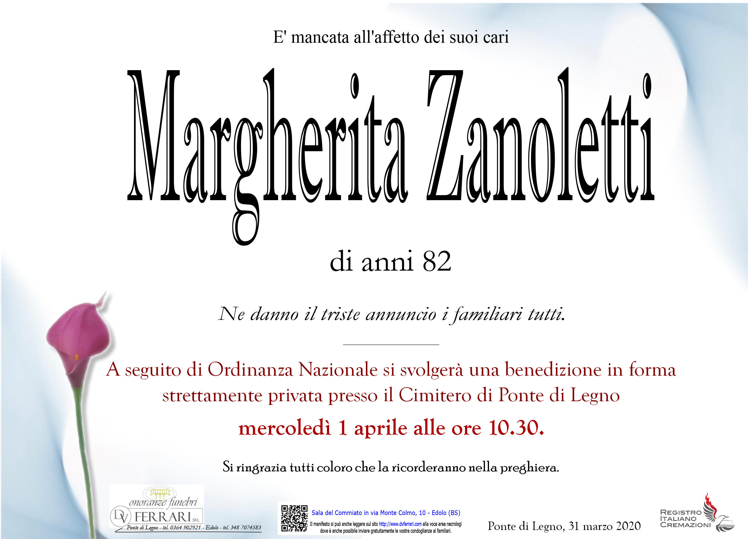 MARGHERITA ZANOLETTI - PONTE DI LEGNO