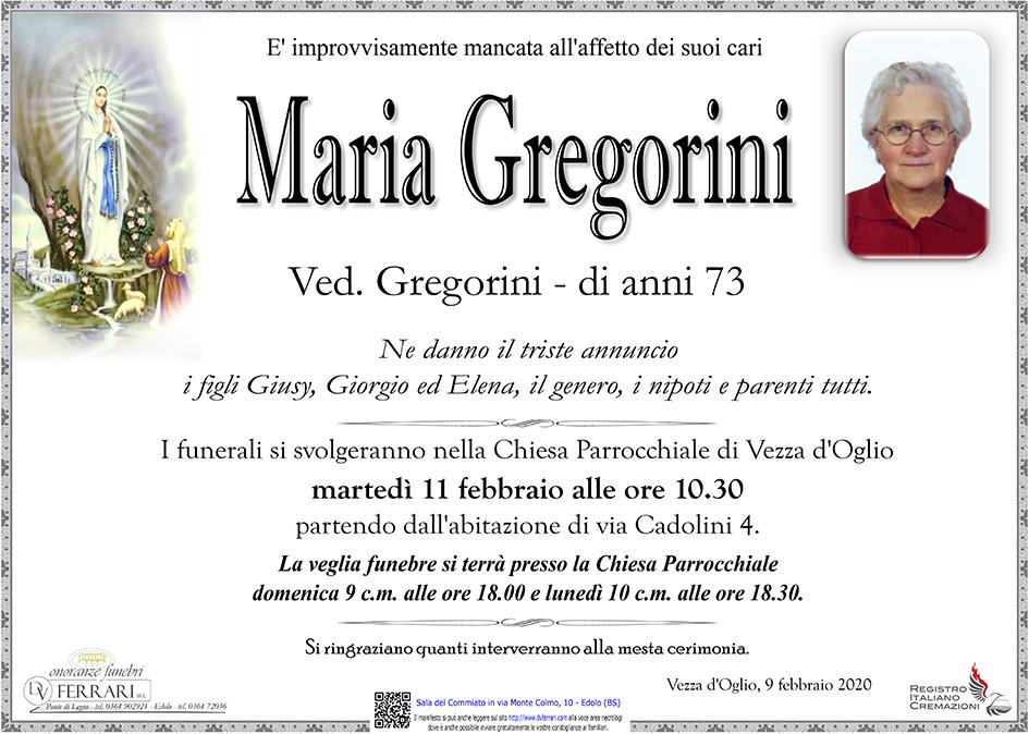 MARIA GREGORINI ved. GREGORINI - VEZZA d'OGLIO