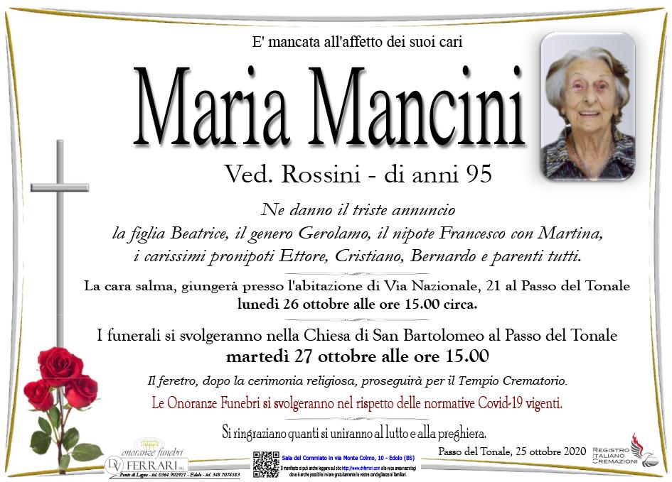 MARIA MANCINI ved. ROSSINI - PASSO DEL TONALE (TN)