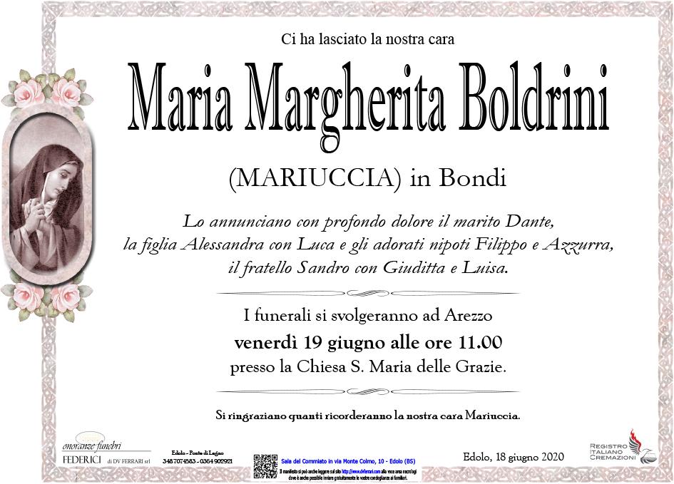 MARIA MARGHERITA BOLDRINI IN BONDI - EDOLO