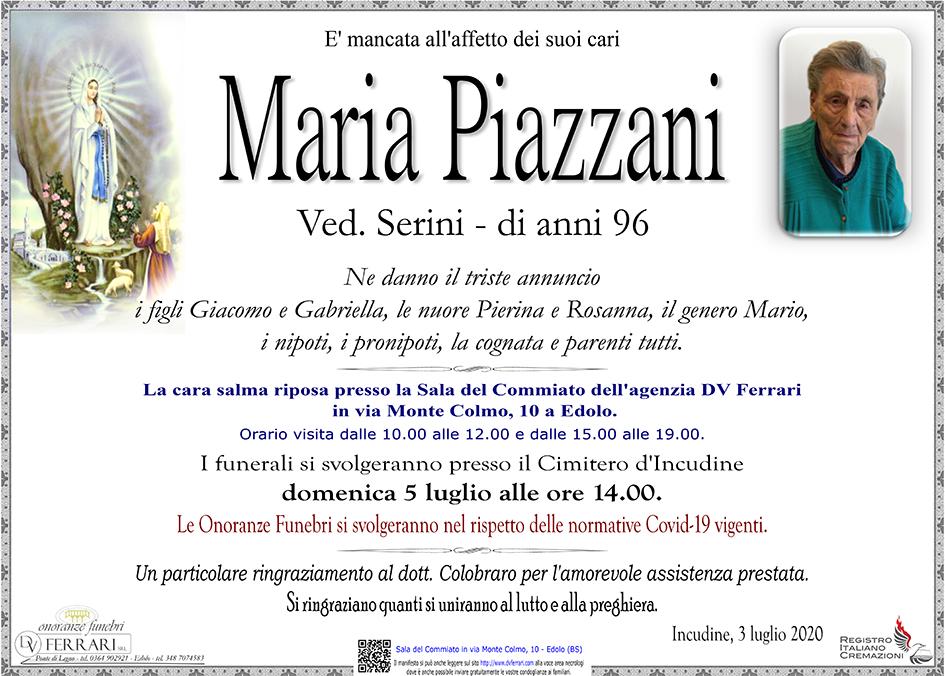 MARIA PIAZZANI ved. SERINI - INCUDINE