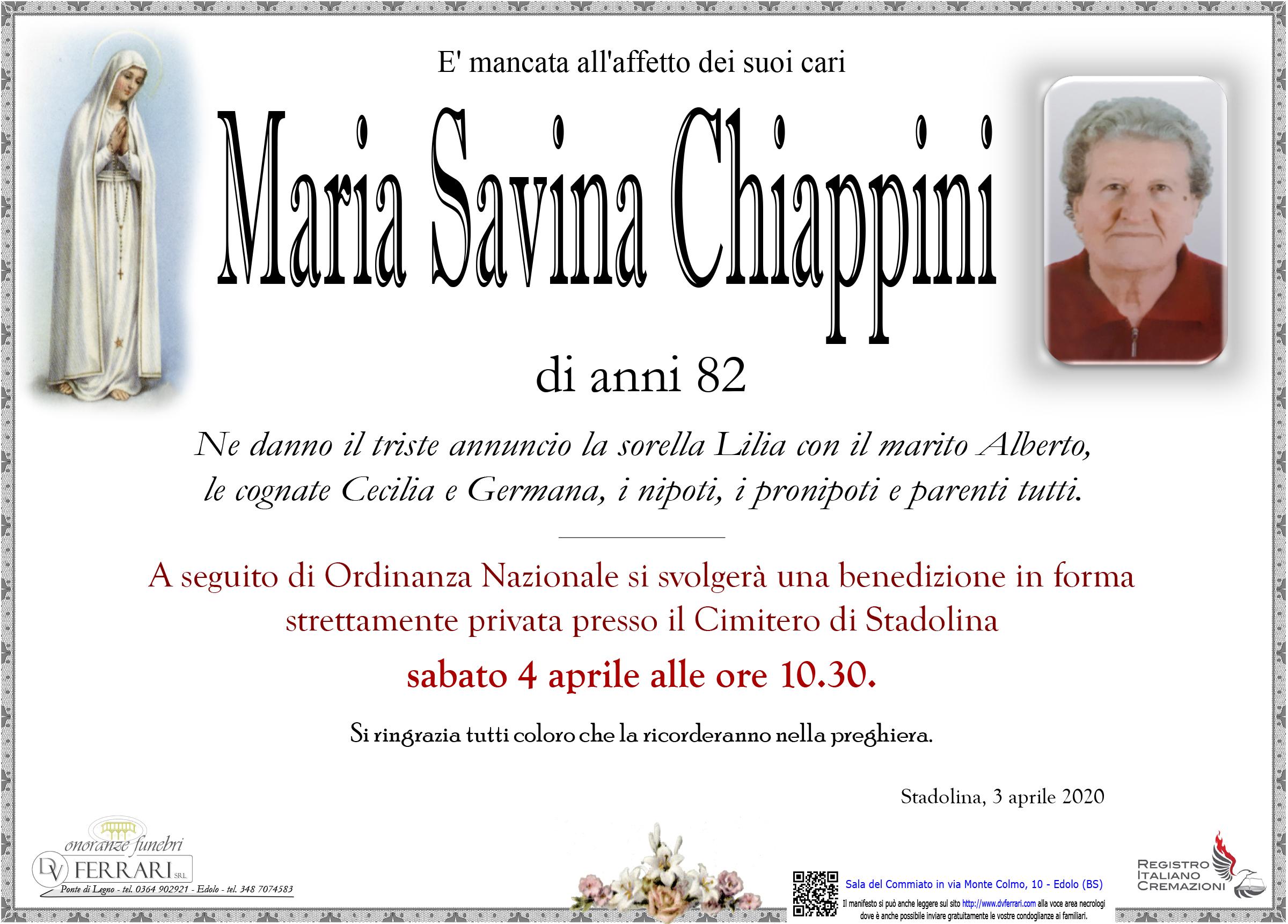 MARIA SAVINA CHIAPPINI - STADOLINA