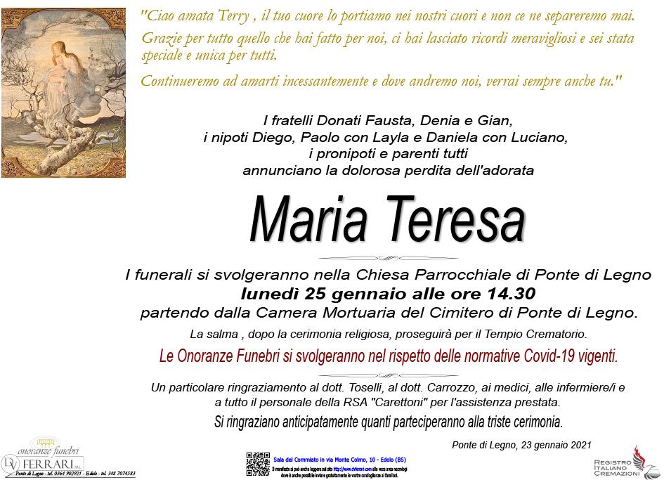 MARIA TERESA DONATI - PONTE DI LEGNO