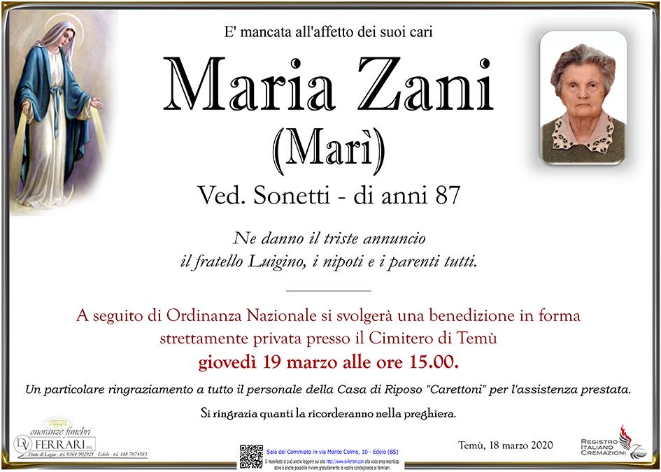 MARIA ZANI (MARI') - TEMU'