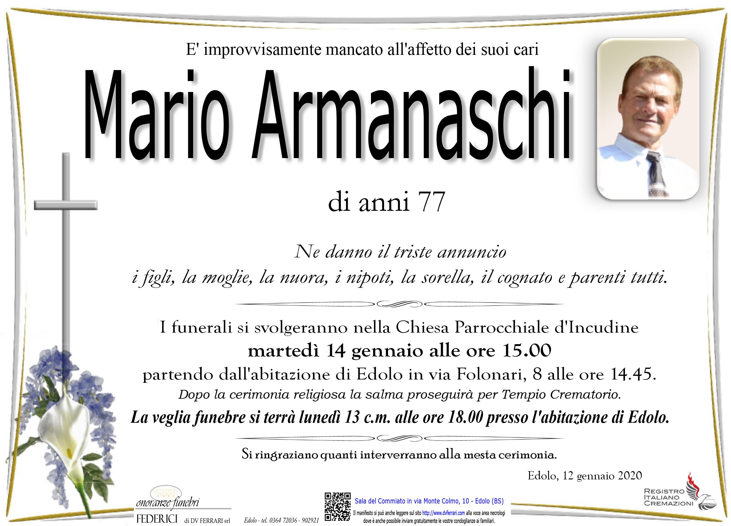 MARIO ARMANASCHI - INCUDINE