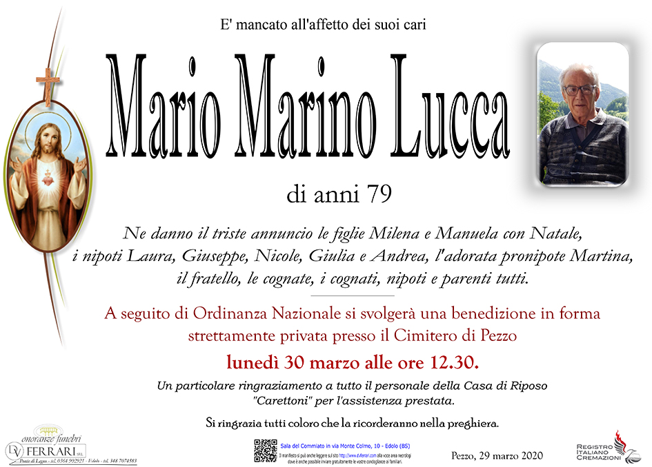 MARIO MARINO LUCCA - PEZZO