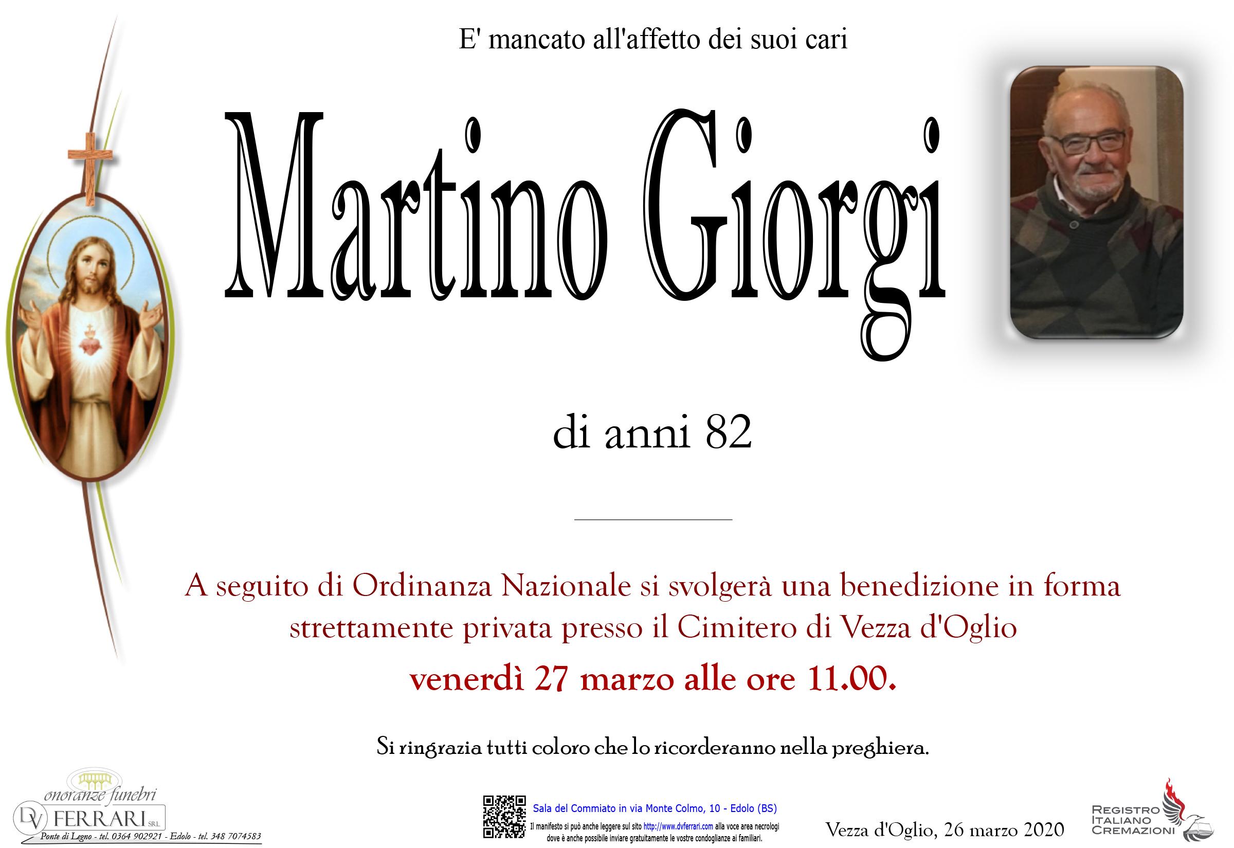 MARTINO GUERINO GIORGI - VEZZA
