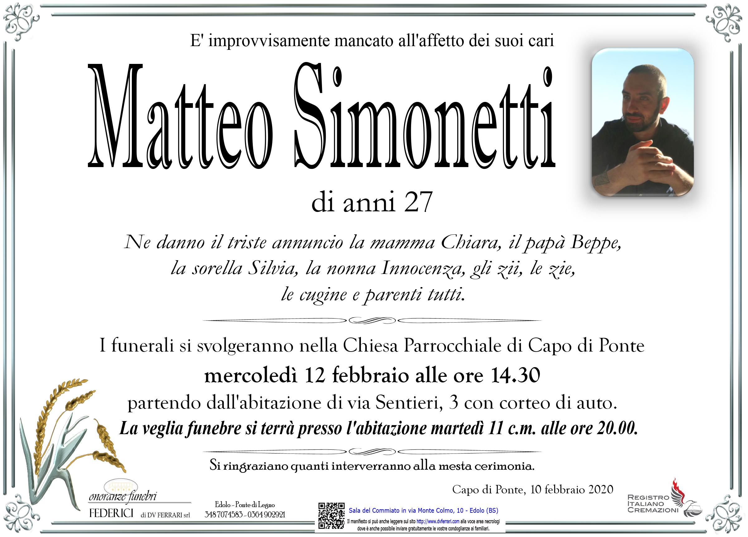 MATTEO SIMONETTI - CAPO DI PONTE