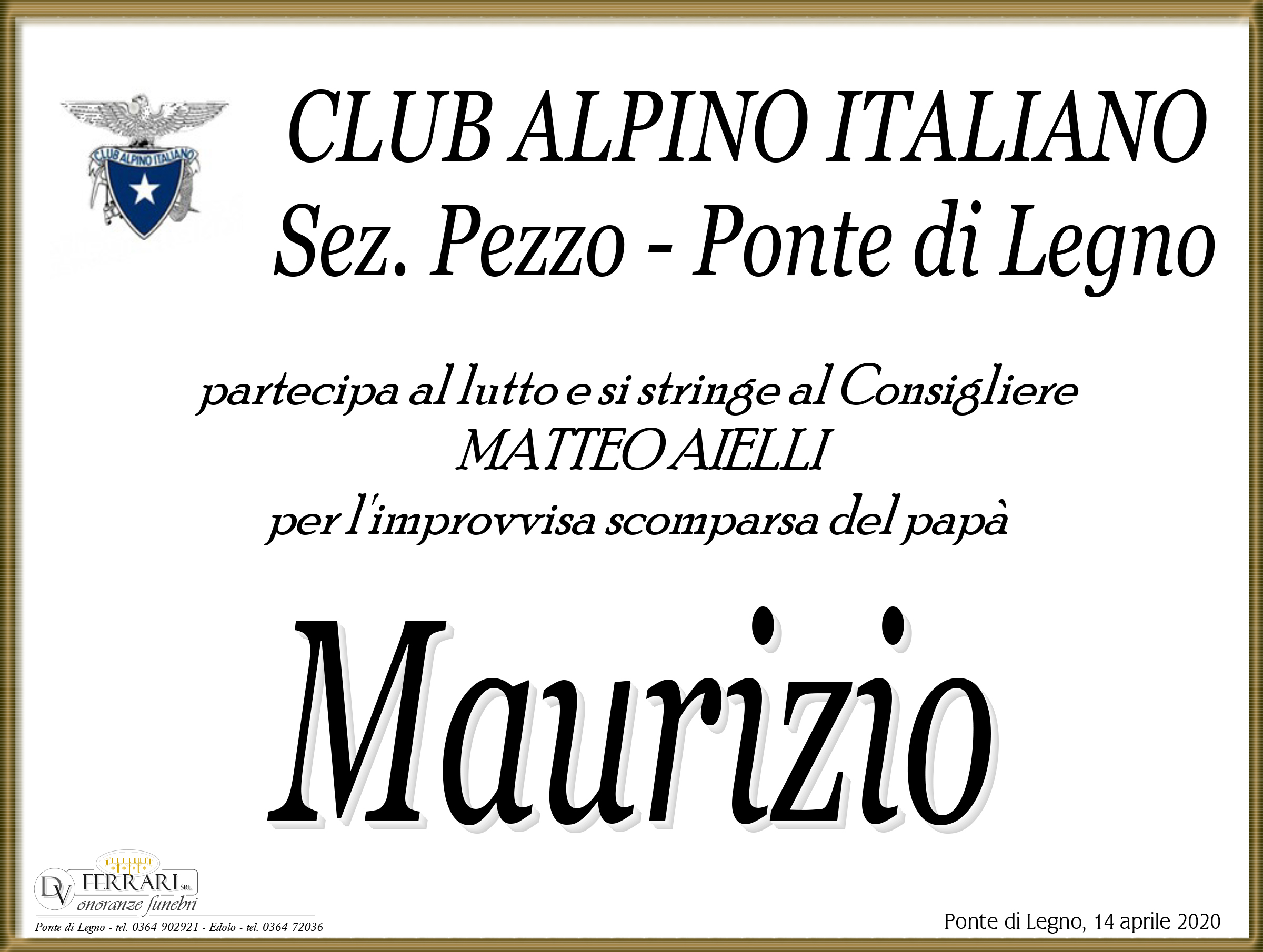 MAURIZIO AIELLI - PONTE DI LEGNO