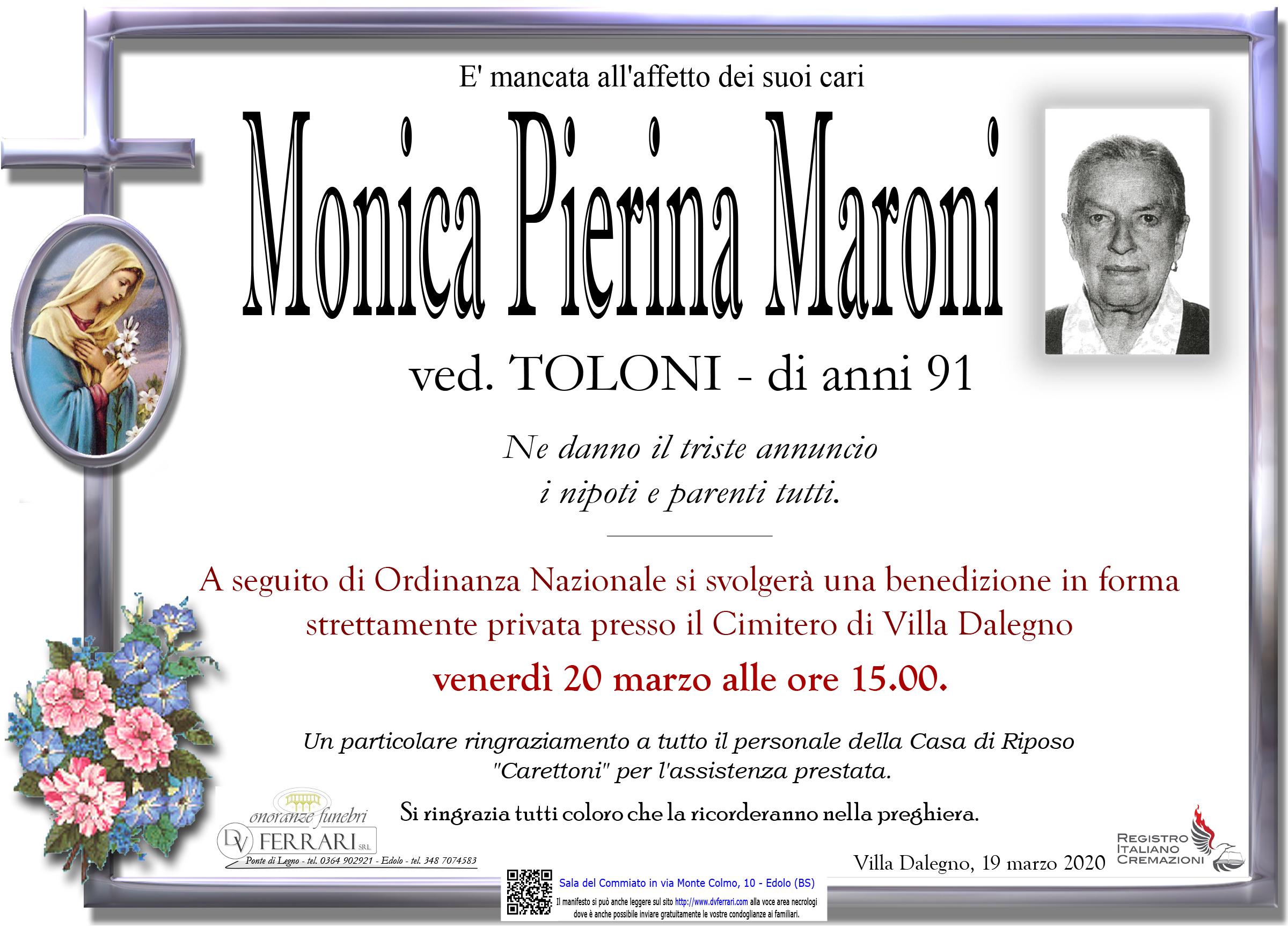 MONICA PIERINA MARONI ved. TOLONI - VILLA DALEGNO