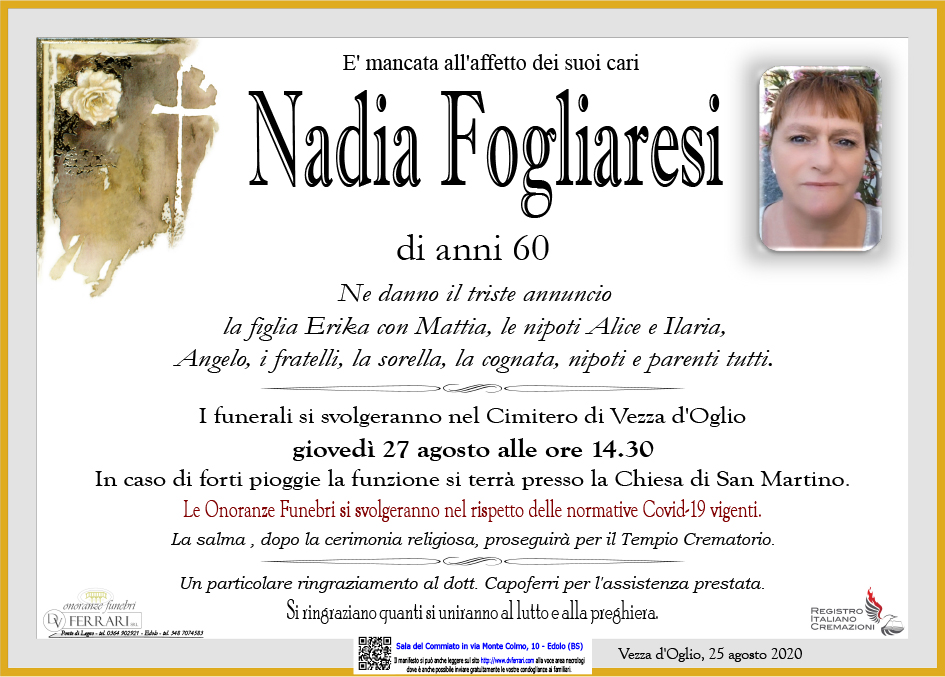 NADIA FOGLIARESI - VEZZA D'OGLIO
