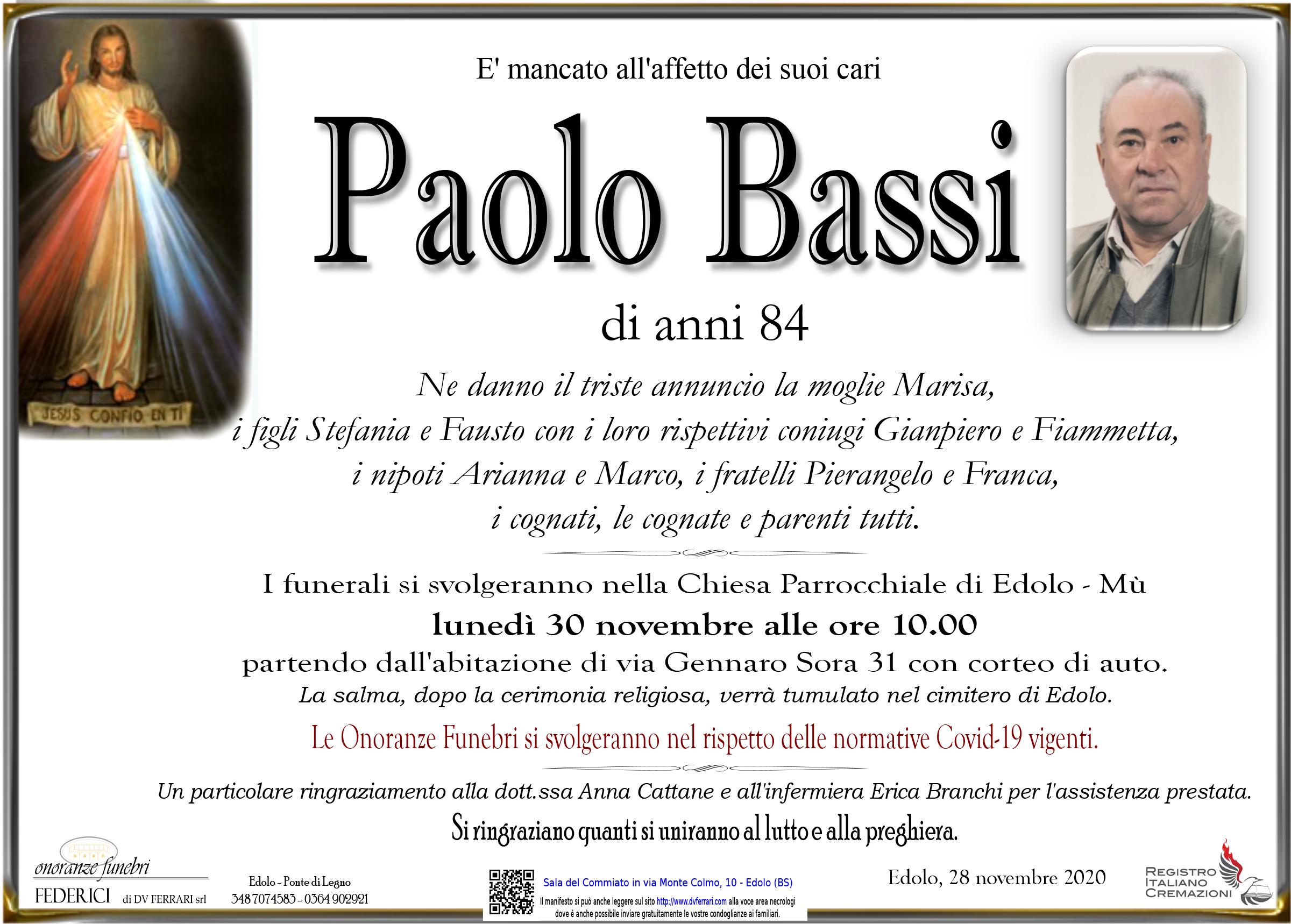 PAOLO BASSI - EDOLO